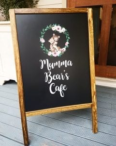 Cafe sidewalk sign