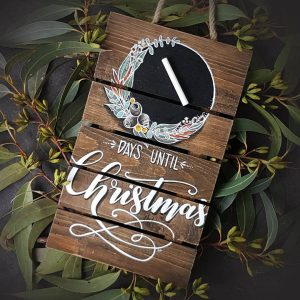 Days until Christmas sign
