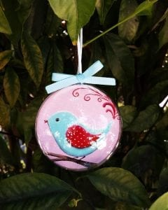 Bird Christmas bauble