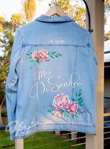 Bride jacket hand painted