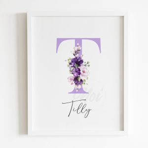 purple girls room print