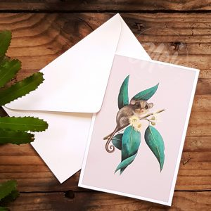 greeting card gum leaves