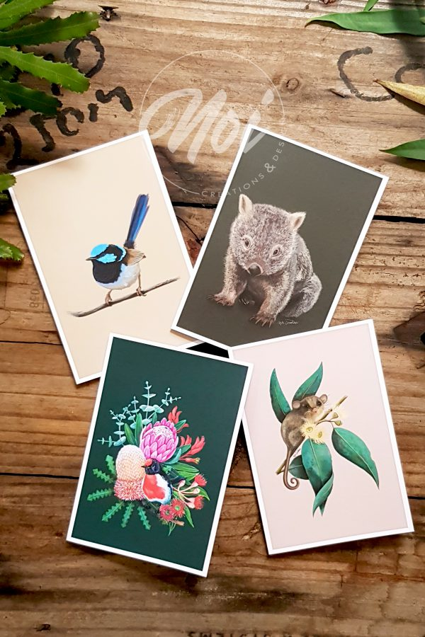 blank cards australian animals
